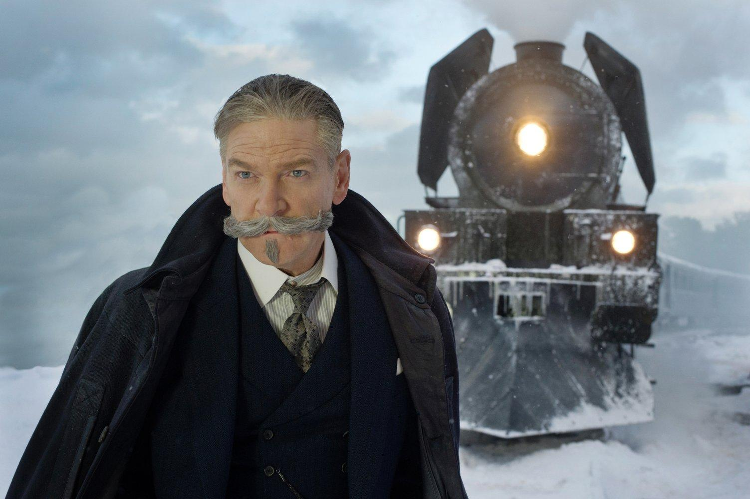 """20TH CENTURY FOX Kenneth Branagh is lead actor and director in """"Murder on the Orient Express."""" He plays fictional, world-renowned detective, Hercule Poirot, solving a whodunit murder mystery on a derailed express train in 1933. The film opened third at the U.S. box office with $28.2 million."""