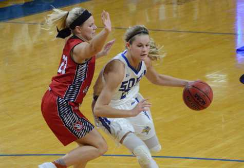 Jacks fall to second place in Summit League, ready for two-game road trip