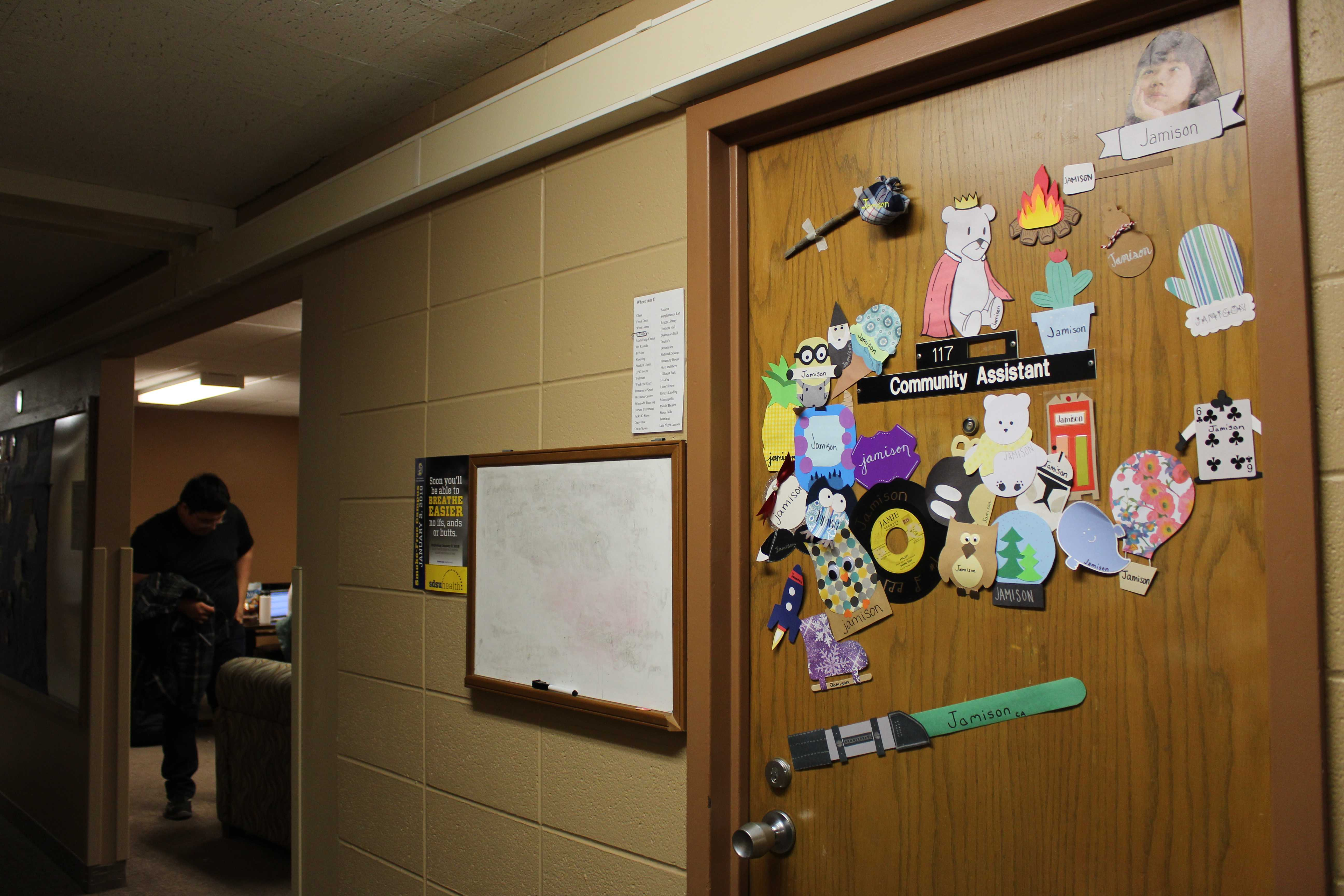 JENNY NGUYEN Community assistants are given a single room in the hall they work in, a meal plan and a stipend each semester for the work that they do on campus. They also have weekly meetings, and monthly training sessions.