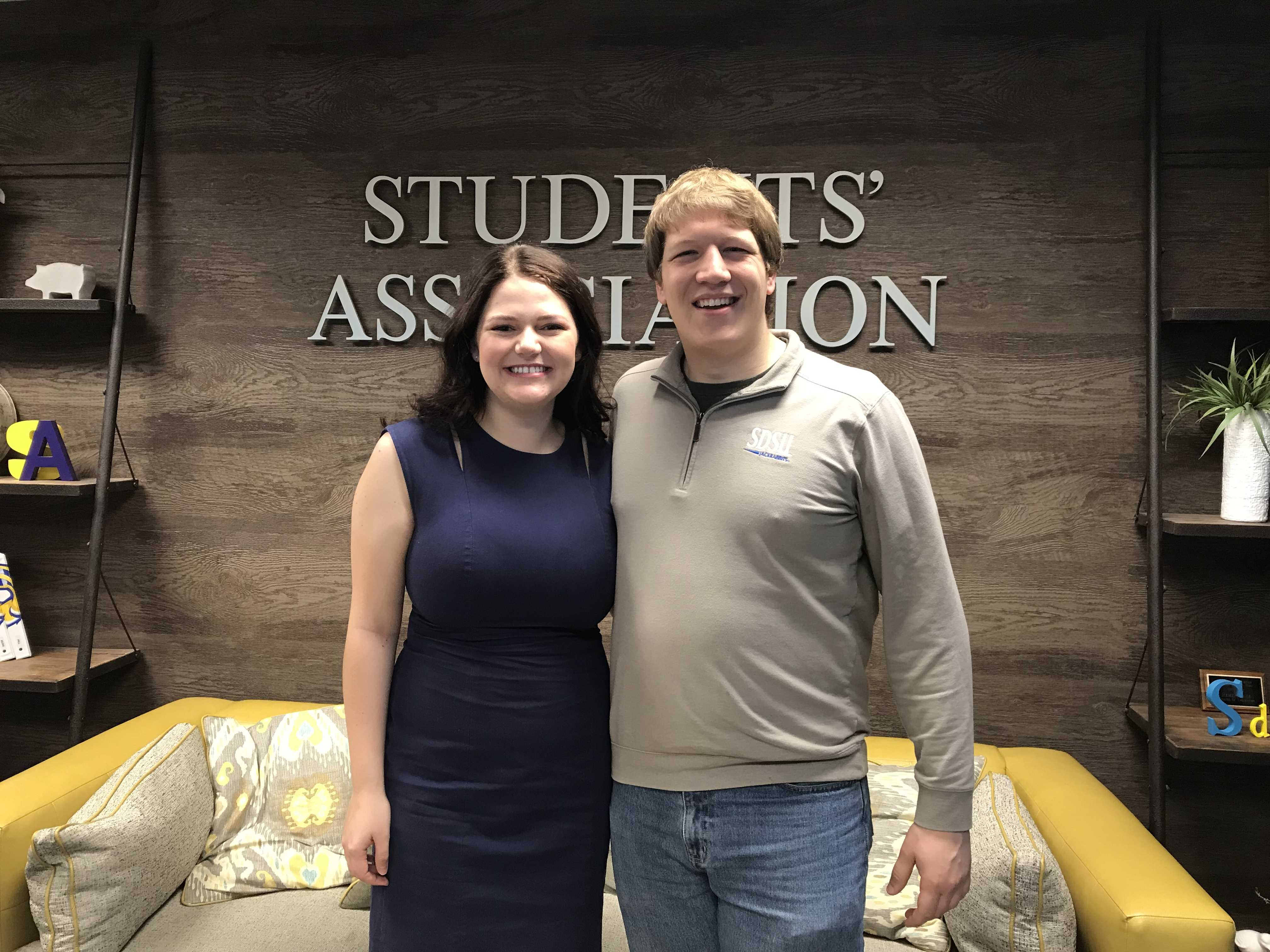Allyson Monson and Spencer Harwood ran uncontested in the 2018 SA president and vice president race.