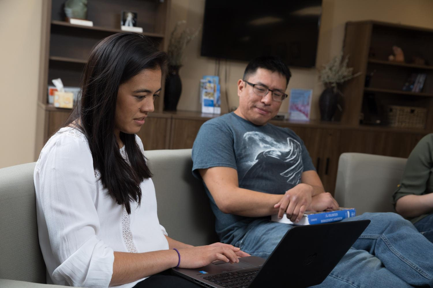 American Indian students work on academics in the American Indian Student center on SDSU's campus.