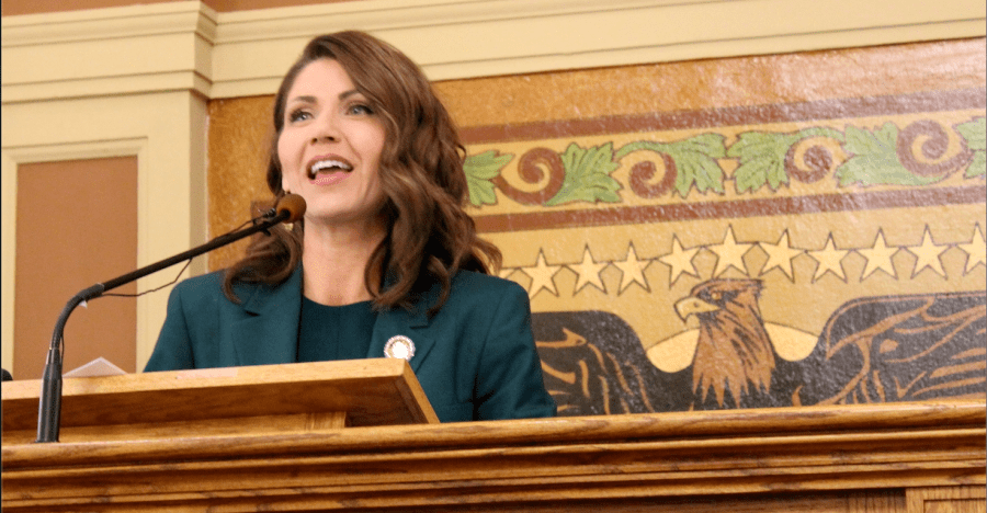 Gov.+Kristi+Noem+delivered+her+first+budget+address+to+a+joint+session+of+the+Legislature+on+Wednesday+afternoon.+Her+budget+calls+for+2.5+percent+increases+for+education%2C+Medicaid+providers+and+state+employee+salaries.+%28Community+News+Service+photo%29