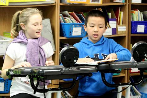 FitDesks help Medary students stay focused