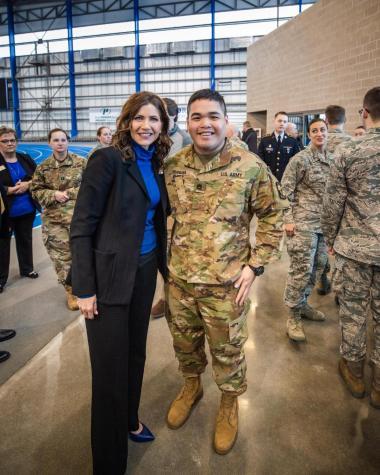 Gov. Noem honors SDSU ROTC members