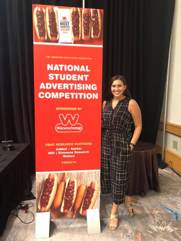Alexandra Farber received the National Best Presenter Award at the National Student Advertising Competition held earlier this month in Florida.