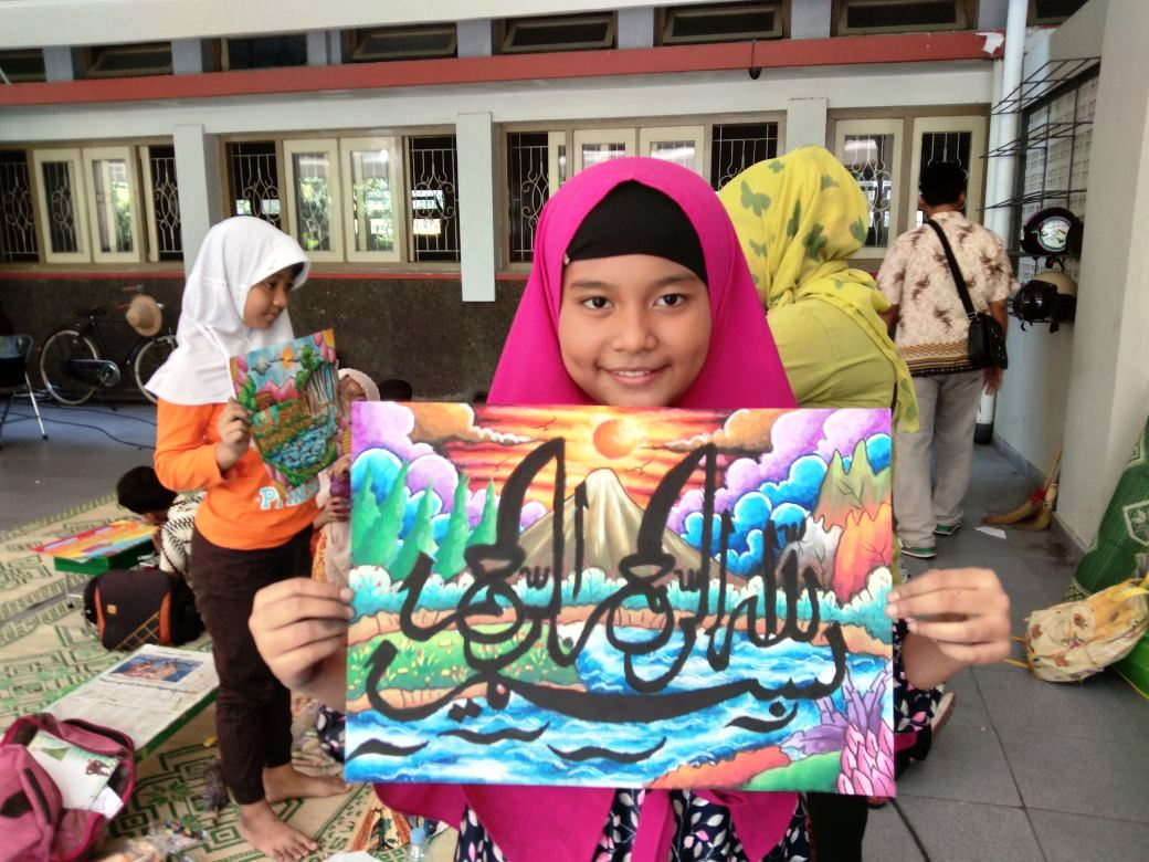 Allhamdulillah Aurel Juara Pertama Lomba Kaligrafi Sd Ta