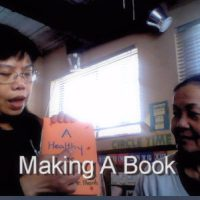 making a book title image