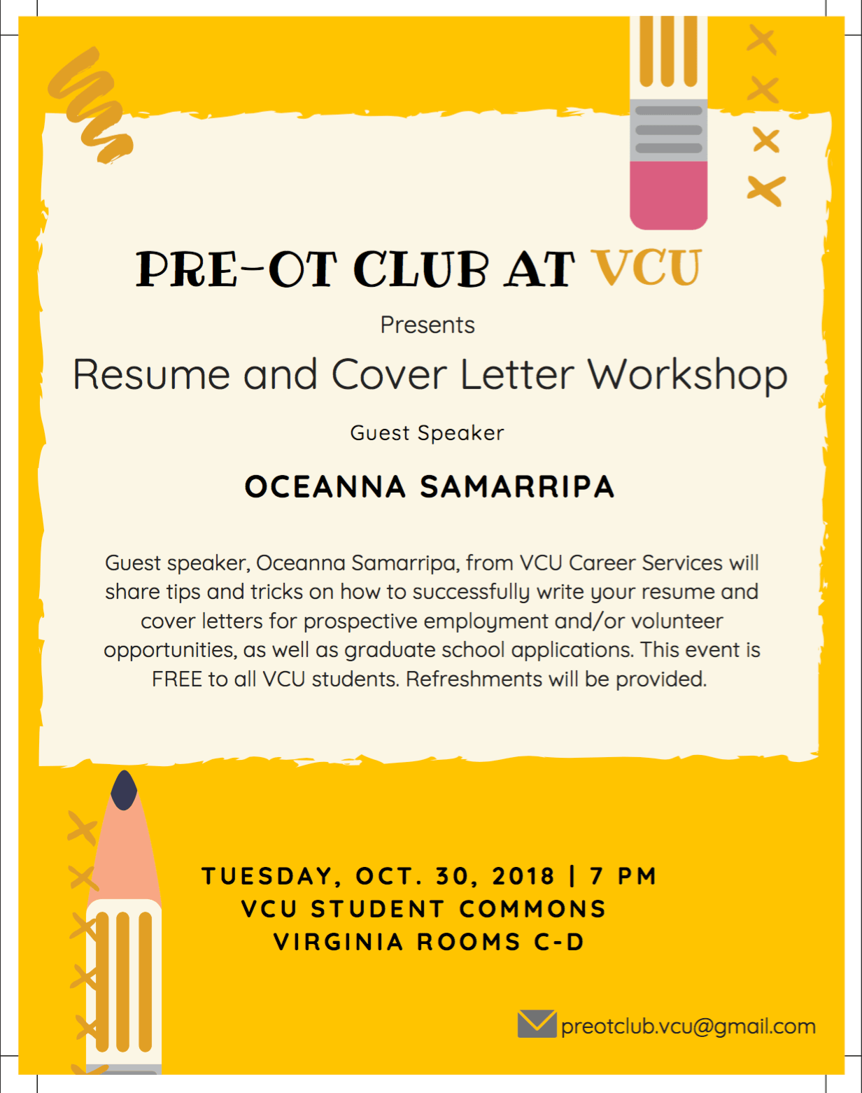 Event Volunteer Cover Letter Resume And Cover Letter Workshop Ramsconnect
