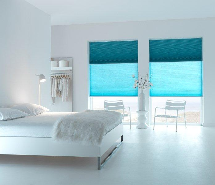 Gordijnen Slaapkamer Blauw