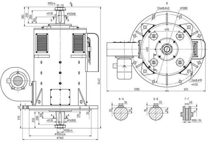 Электродвигатель экскаваторный постоянного тока, серии МПЭ