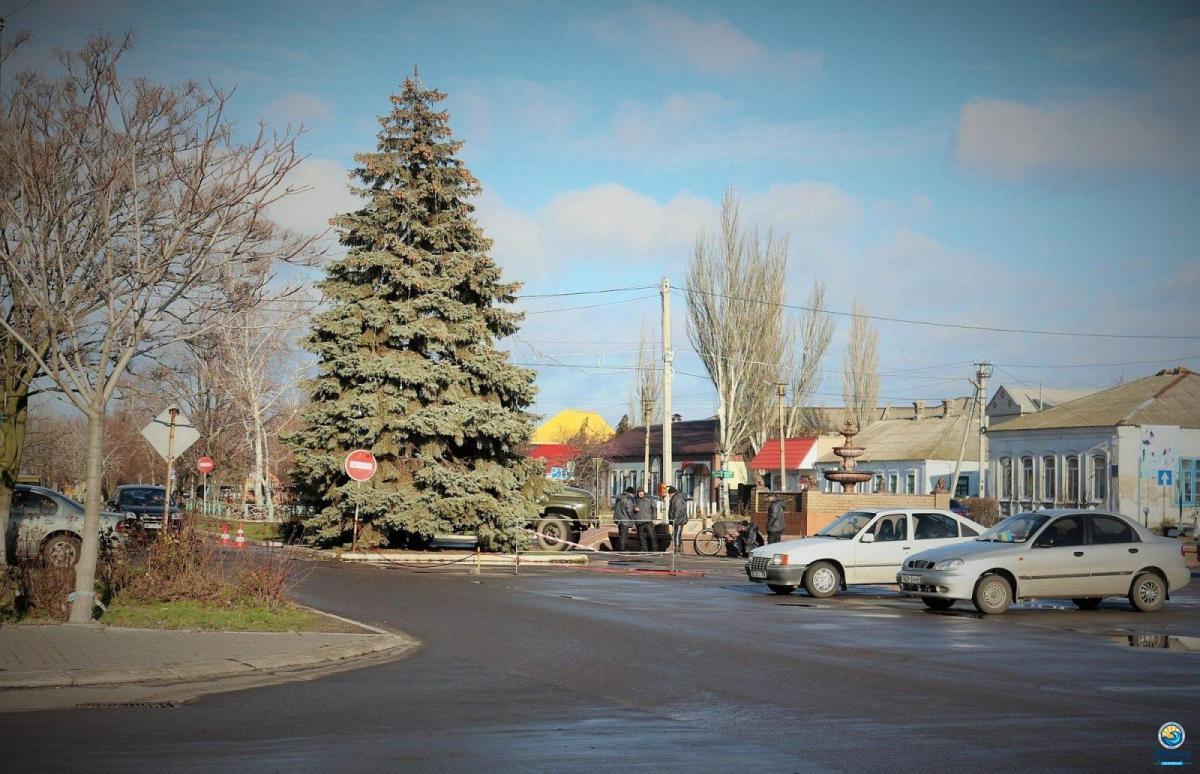 Новогодняя елка в Геническа