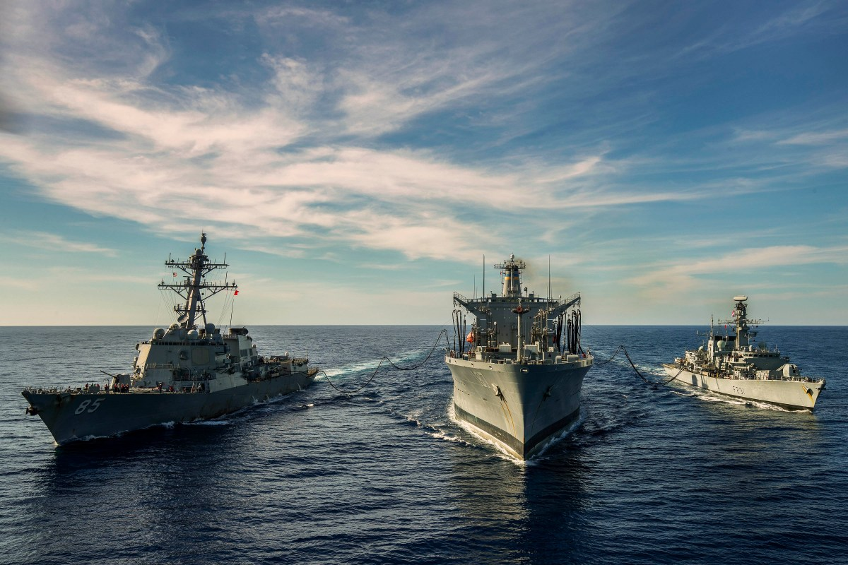 US, British Navies Perform  Drills in South China Sea