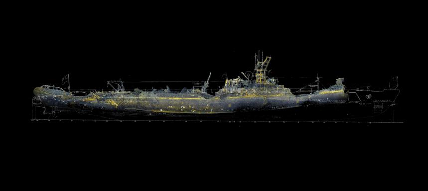 USS Grunion stern