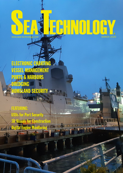 Cover for the March edition of Sea Technology