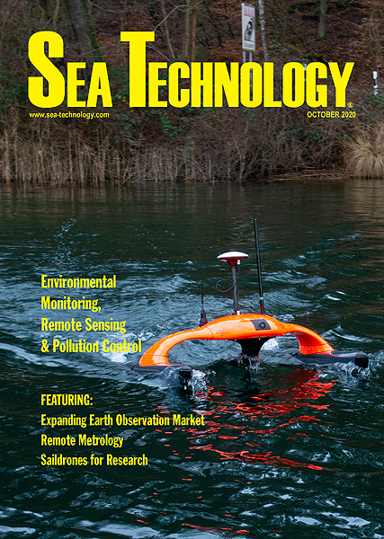 Cover for Sea Technology magazine October 2020
