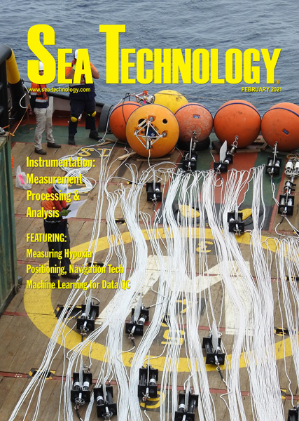 February 2021 issue of Sea Technology magazine