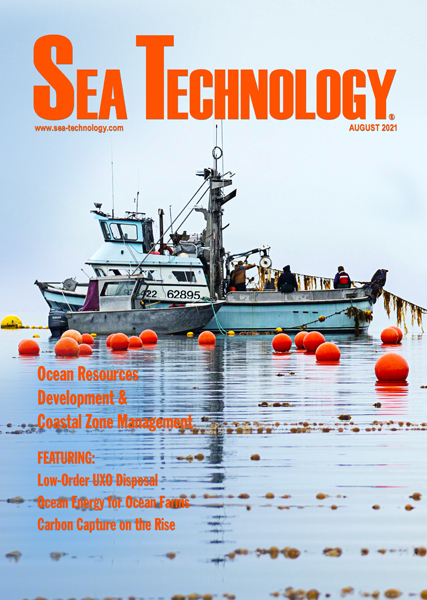 August 2021 cover of Sea Technology