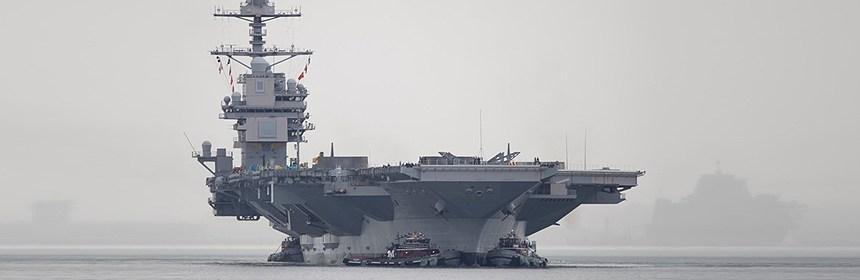 USS Gerald Ford prepares for final repairs