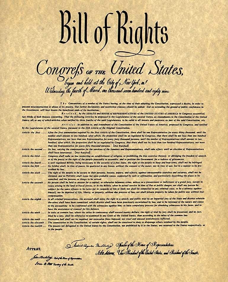 Bill Of Rights  8th Grade Social Studies