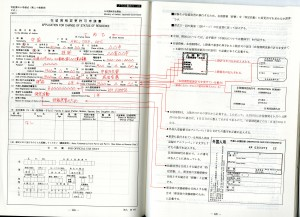 An instruction issued by the Japanese authorities on how a form should be filled. A foreign worker has to fill up an additional 37 forms issued by the Japanese government with the same level of meticulousness when applying for visa (by Biao Xiang)