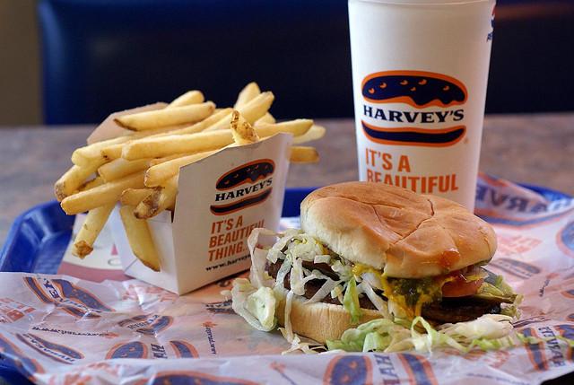 harvey's burger canada