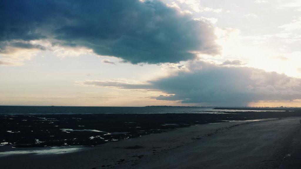 pornichet plage de bonne source coucher de soleil