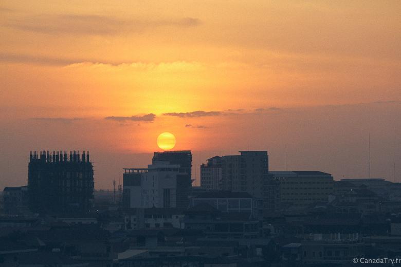 coucher de soleil phnom penh
