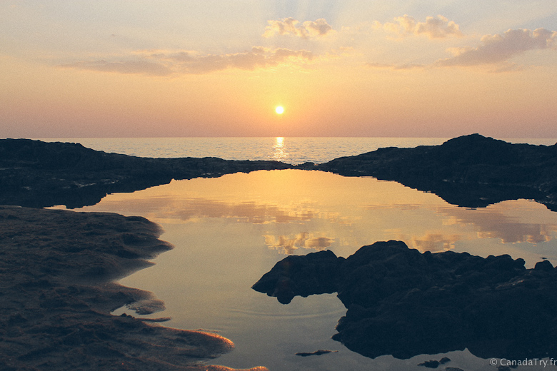 sunset nang thong beach