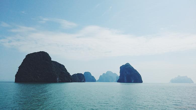 paysage roche phang nga thailande