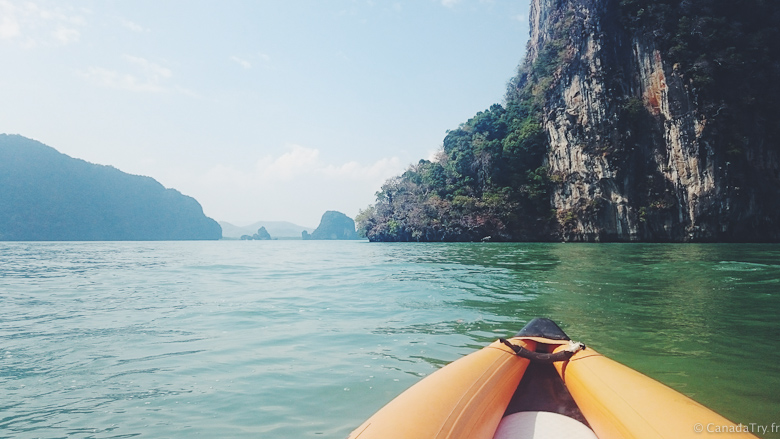 excursion canoe james bond island thailande
