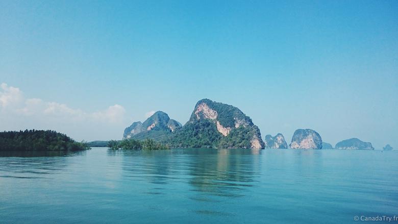 paysage baie de phang nga thailande