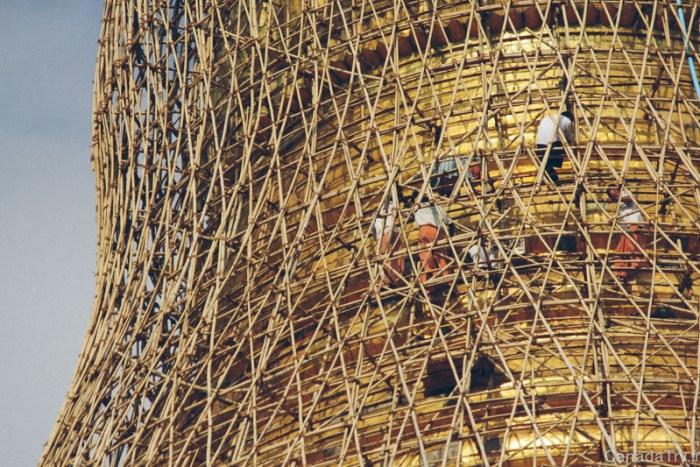 pagode shwedagon travaux