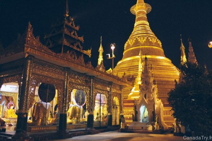 coucher du soleil shwedagon pagoda