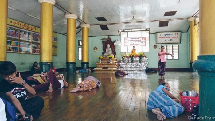 shwedagon pagoda sleep