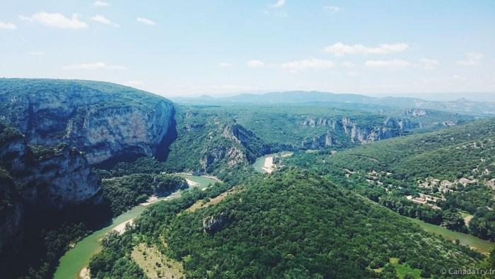point de vue depuis la route touristique en ardèche