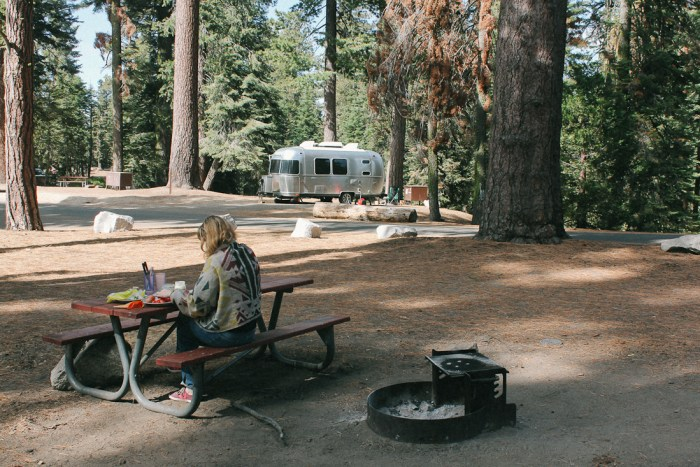 emplacement camping car sequoia national park