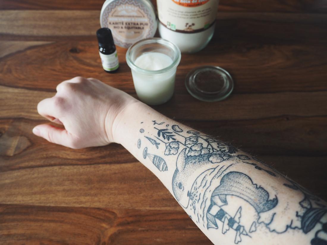 huile vegetale tatouage