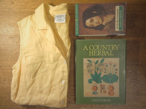 laura ashley shirt, lorna doone, a country herbal