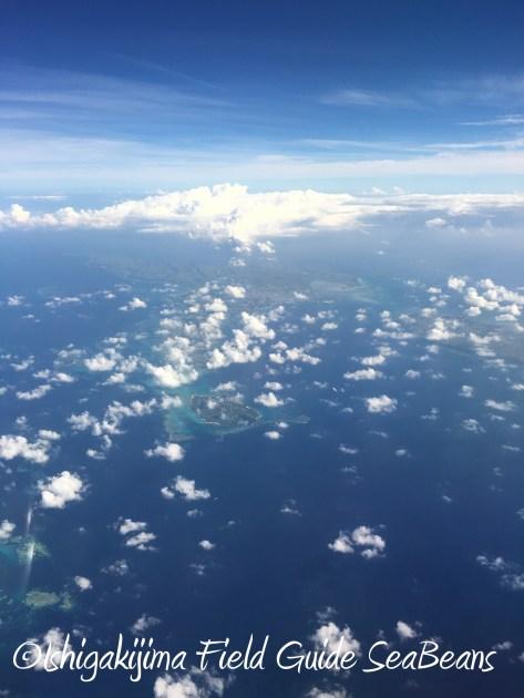 8月23日宮古島空の上