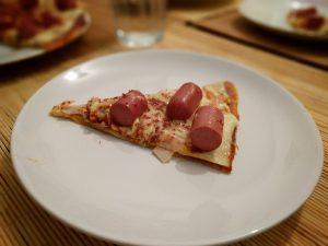 Porción de pizza barbacoa