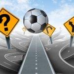 La pelota trata de simular los diferentes camino (valores) que ofrece el fútbol