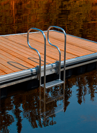 seaco marine 3 step aluminum swim ladder