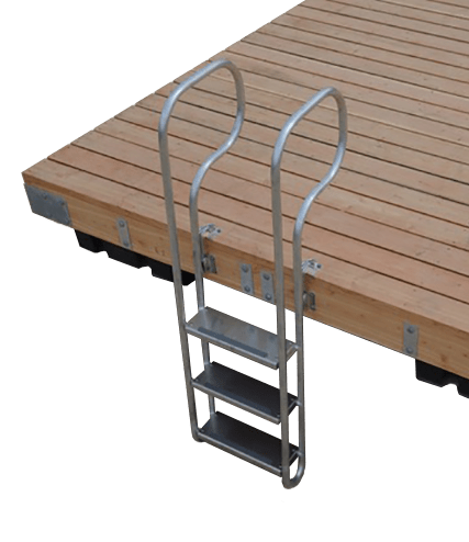 seaco 3 step aluminum swim ladder
