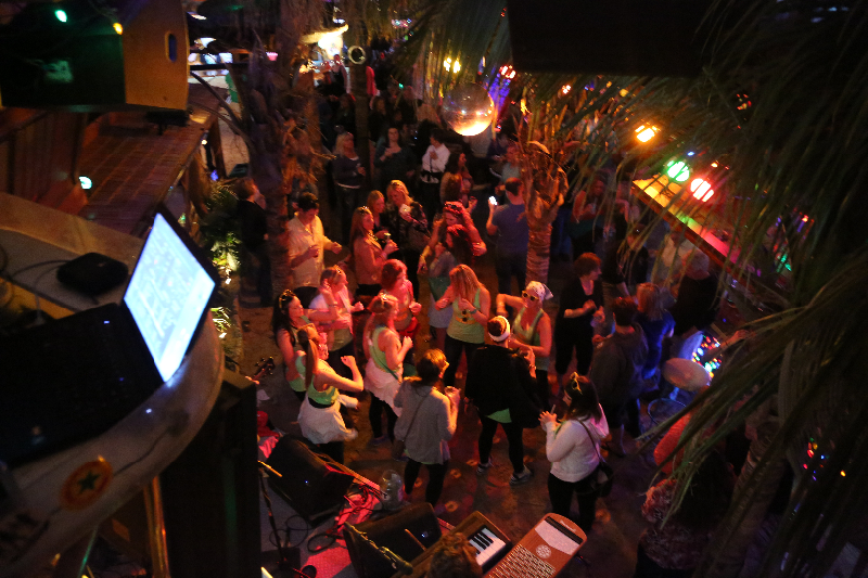 Tiki Bar and Stage  Seacrets Ocean City MD  Waterfront