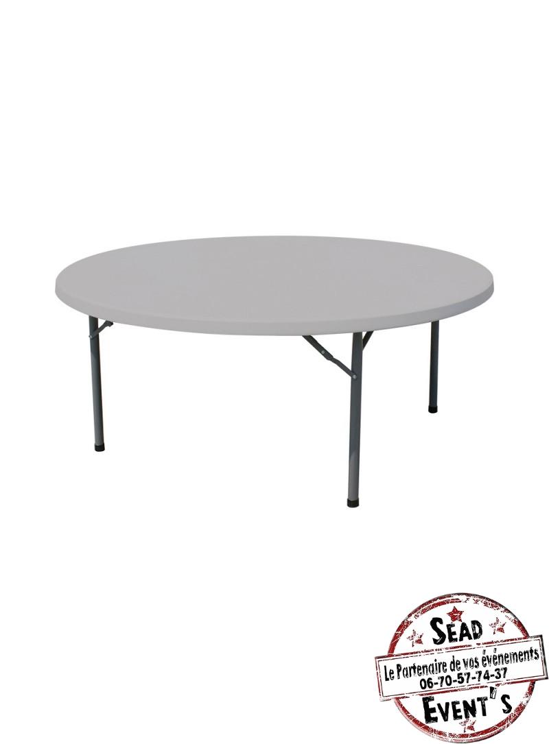 table pliante ronde 6 8 personnes