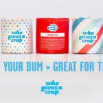 "Shop: Rolls of toilet tissue in rainbow packaging - ""Great for your bum, great for the world"""