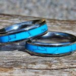 Shop: Two Devocean rings - blue bands with silver trims.