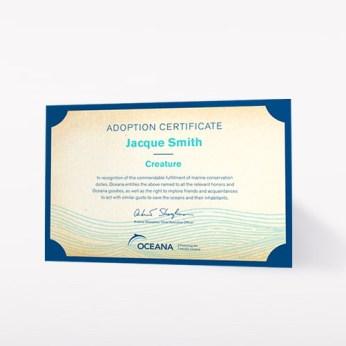 oceana certificate