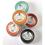 Shop: 5 Siabann lip balms in different flavours - suitable for vegans.
