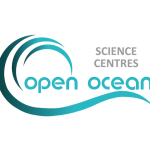 The Open Ocean Science Centre logo with a blue wave motif underneath.